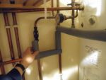 Hubby has been busy lining our pipes...