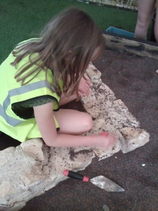 Our little archaeologist